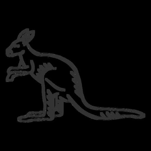 Kangaroo ear tail leg doodle Transparent PNG