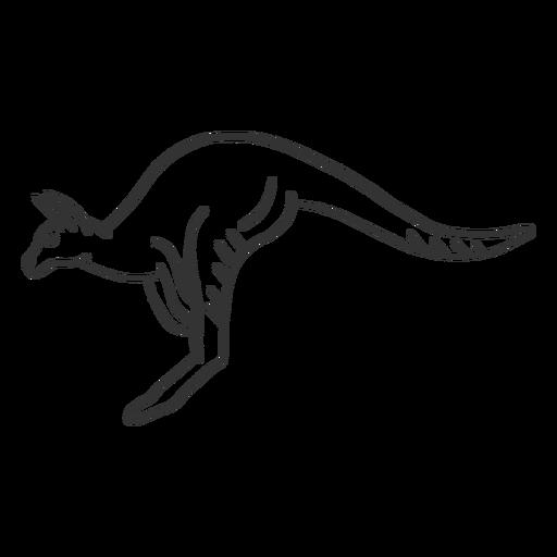 Kangaroo tail leg ear doodle Transparent PNG