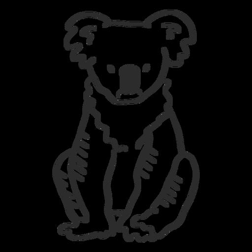 Nariz de orelha de coala sentado doodle Transparent PNG