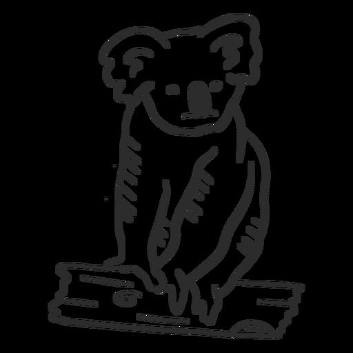 Doodle de ramo de orelha de nariz de coala Transparent PNG