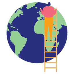 Ladder step ladder height planet earth continent flat