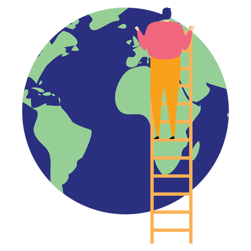 Escalera escalera altura planeta tierra continente plano