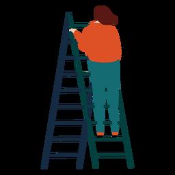 Ladder step ladder height woman flat