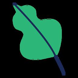 Hoja arbustos planta arbol plana