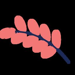 Hoja planta arbustos arbol plano