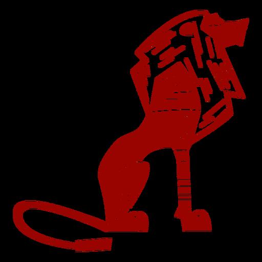 Lion king tail mane pattern detailed silhouette Transparent PNG
