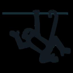 Silhueta detalhada do focinho de cauda de perna de macaco