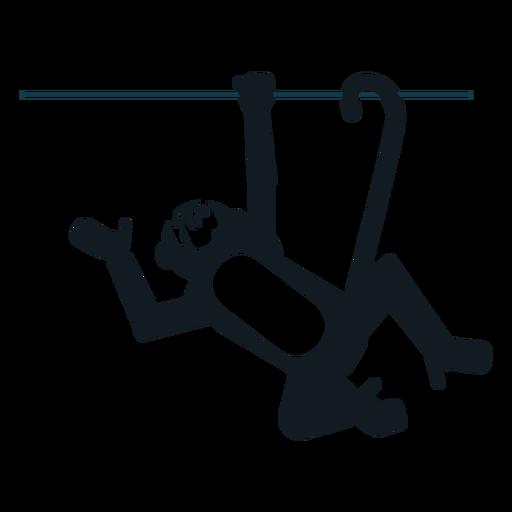 Mono pierna cola cola detallada silueta Transparent PNG