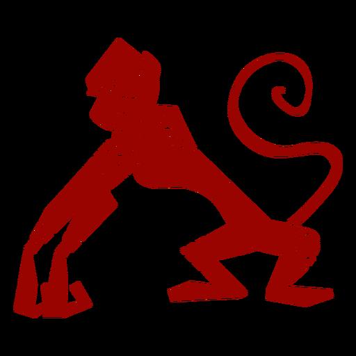 Silueta detallada de patrón de hocico de cola de pata de mono Transparent PNG