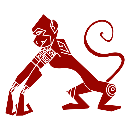 Silueta detallada del patrón de boca de la cola del mono Transparent PNG