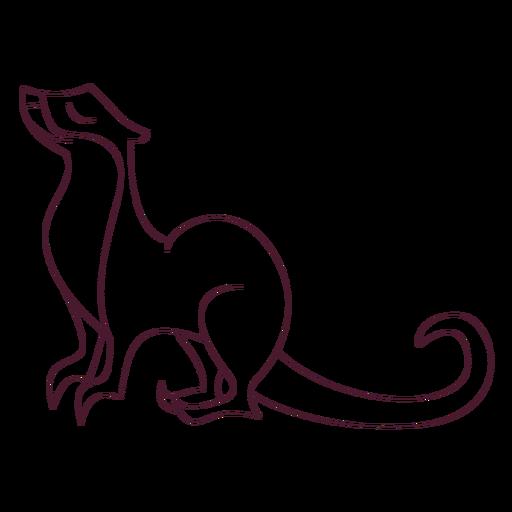 Otter pierna hocico cola línea Transparent PNG