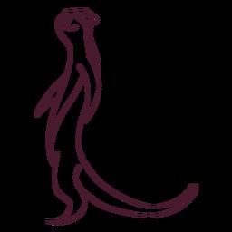 Línea de cola de la pata del hocico de la nutria