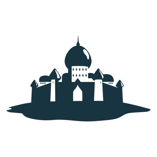 Palace tower gate roof spire dome detailed silhouette Transparent PNG