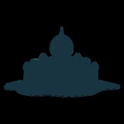 Palastturm-Tordach-Helmhaubenschattenbild