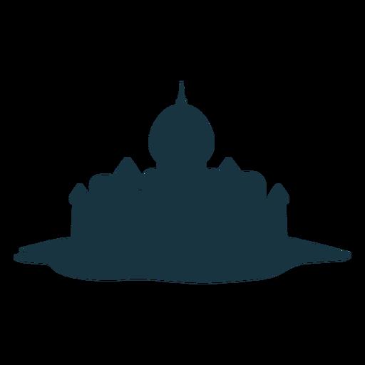 Silhueta da cúpula do pináculo do telhado da torre do palácio