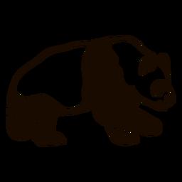 Doodle de la punta de la oreja del pompa grasa garabato