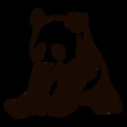 Panda sentado doodle de focinho de orelha de focinho