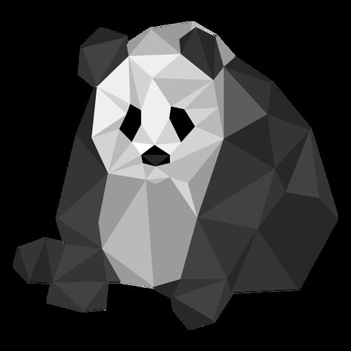 Panda sentado mancha oreja grasa baja poli Transparent PNG