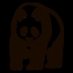 Panda Spot Ohr Fang Fett Gekritzel