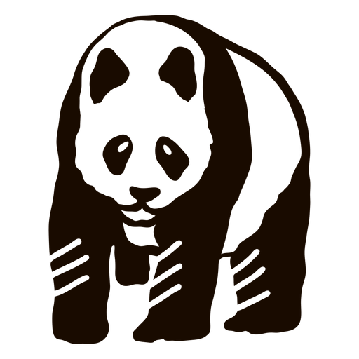 Garabato de oreja de Panda Transparent PNG