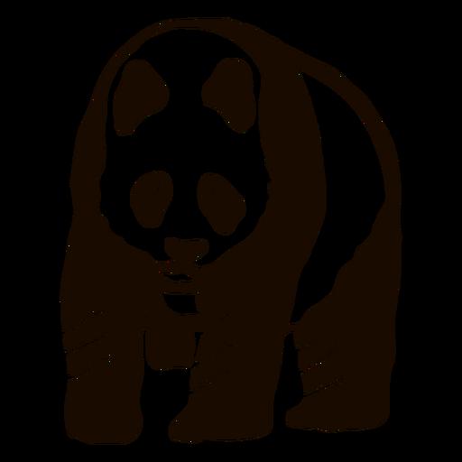 Panda spot ear muzzle fat doodle Transparent PNG