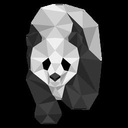 Panda Spot Maulkorb Fett Low Poly