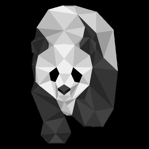 Panda punto oreja hocico gordo bajo poli Transparent PNG