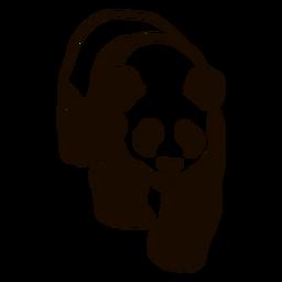Panda spot muzzle ear fat doodle