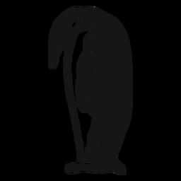 Pinguin Schnabel Flügel Gekritzel