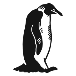 Sitzendes Gekritzel des Pinguinflügelschnabels