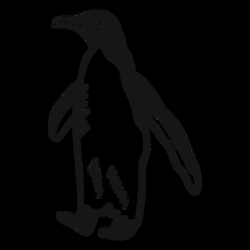 Doodle de pico de pata de ala de pingüino