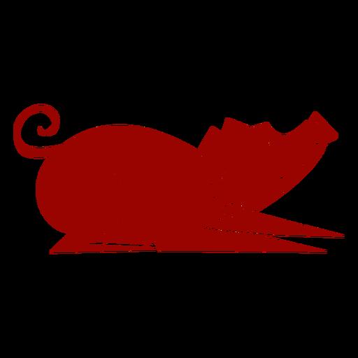 Cerdo oreja hocico cola patrón de pezuña silueta detallada Transparent PNG