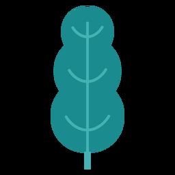 Arbustos de folha de árvore planta plana