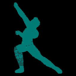 Postur eballet bailarina a rayas silueta