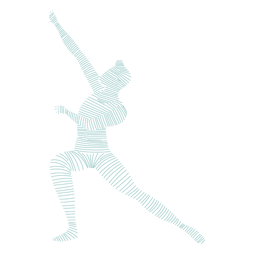 Postur eballet dancer striped silhouette Transparent PNG