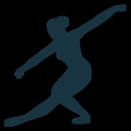 Silhueta de bailarina de bailarina de postura