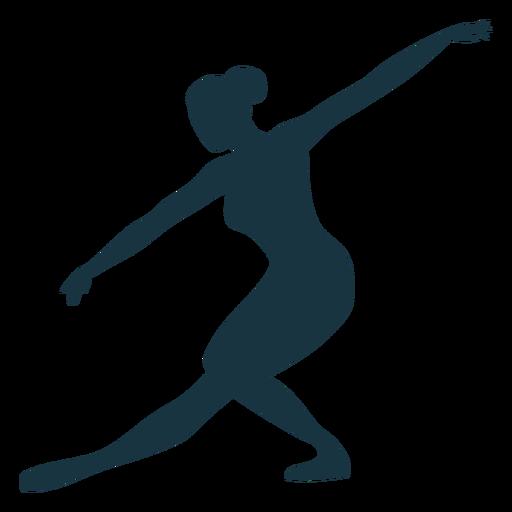 Posture ballerina ballet dancer silhouette