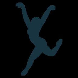 Postura bailarina ballet bailarina silueta