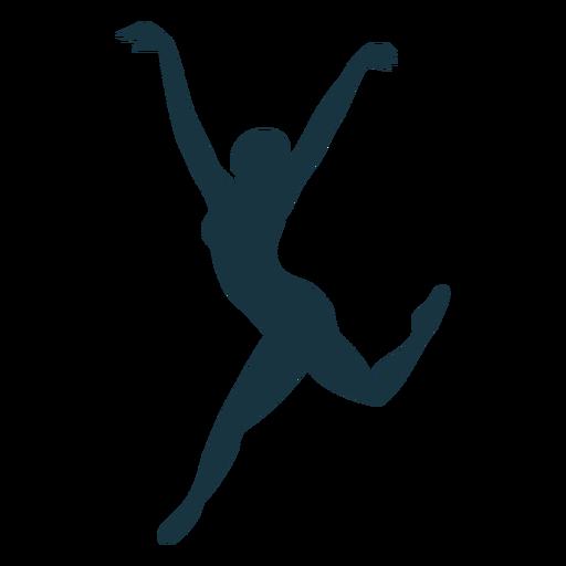 Silhueta de bailarina postura bailarina