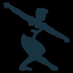 Posture ballet dancer detailed silhouette