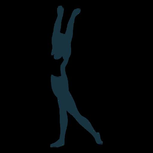 Posture ballet dancer grace detailed silhouette