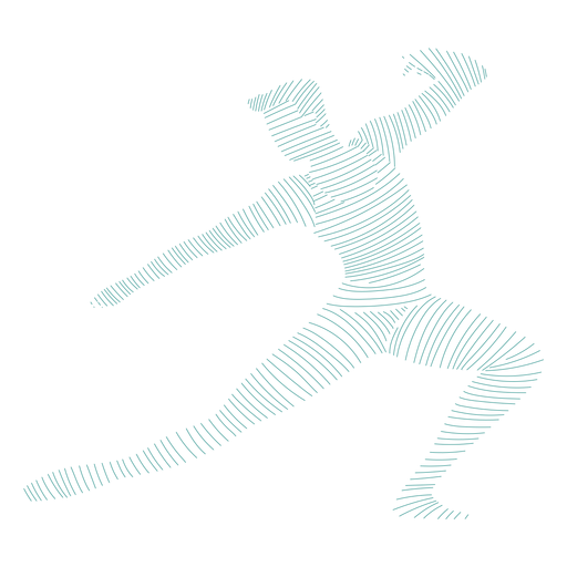 Posture ballet dancer silhouette Transparent PNG