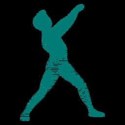 Silhueta de dançarina de balé postura postura