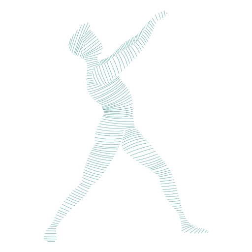 Posture ballet dancer striped silhouette Transparent PNG
