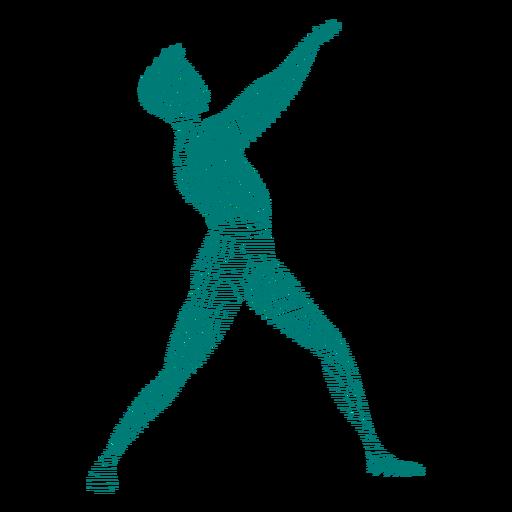 Silhueta de dançarina de balé postura postura Transparent PNG