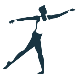 Posture grace ballet dancer detailed silhouette