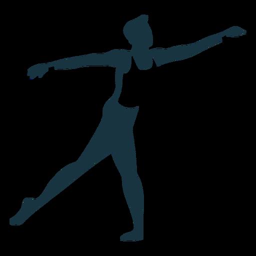 Silhueta detalhada da dançarina de balé postura graça