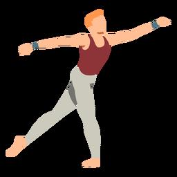 Postura, leggins, balé, dançarino, apartamento
