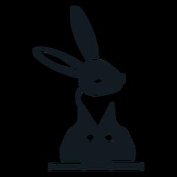 Silhueta detalhada da orelha da orelha do coelho do coelho