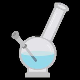Retortar experimento líquido plano